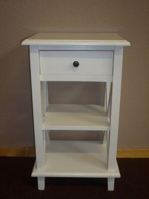 Wandtisch Telefontisch Massivholz weiß