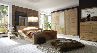 Schlafzimmer Bett Kiefer