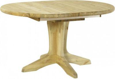 Tisch Oval Kiefer massiv