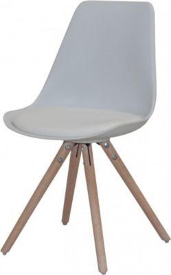 Stuhl 4er Set Sitzschale Eiche