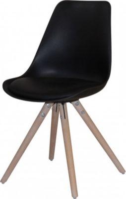 Stuhl 2er Set Sitzschale Eiche