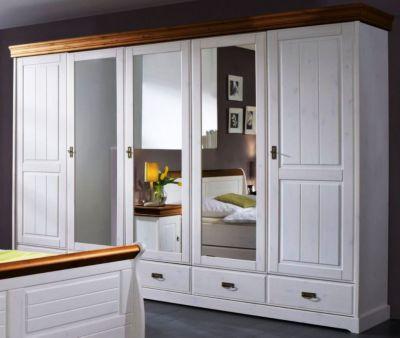 kleiderschrank kiefer massiv preisvergleich die besten angebote online kaufen. Black Bedroom Furniture Sets. Home Design Ideas