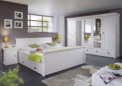 komplettes Schlafzimmer Landhausstil Kiefer massiv