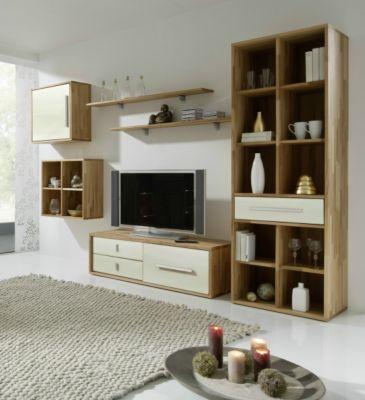 preisvergleich eu wohnwand wei kernbuche. Black Bedroom Furniture Sets. Home Design Ideas