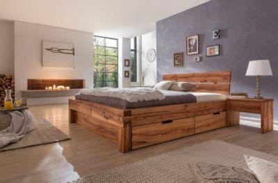 bett mit schubladen 160x200 bett 160x200 in wildeiche massiv ge lt home betten matratzen. Black Bedroom Furniture Sets. Home Design Ideas