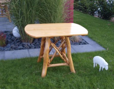 Knüppelholztisch Gartentisch