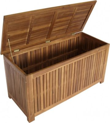 Auflagenbox Gartentruhe Kissenbox Eukalyptusholz