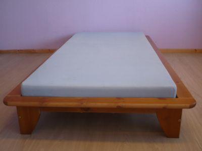 Bett Einzelbett Kiefer massiv