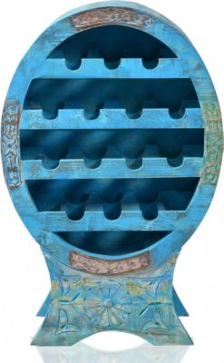 Weinregal Altholz shabby blau