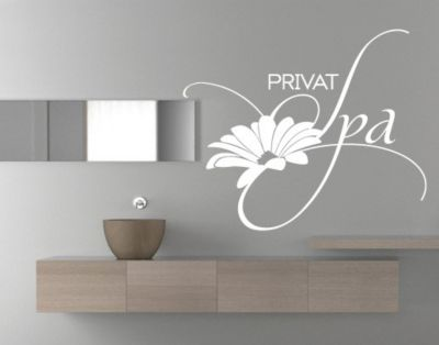 wandtattoo-spruche-wandworte-no-ul600-privat-spa, 64.95 EUR @ plus-de