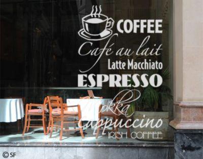 Fensterfolie - Fenstertattoo No.SF928 Coffee - Milchglasfolie