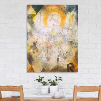 Leinwandbild Paul Klee - Kunstdruck Irma Rossa, die Bändigerin - Expressionismus 120x90x2-71.00-LB-4-3