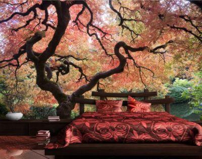 Selbstklebende Tapete   Fototapete Wald Japanischer Garten