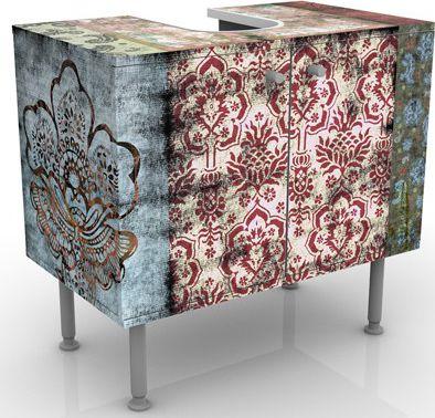 Waschbeckenunterschrank - Old Patterns - Vintag...