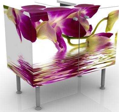 Waschbeckenunterschrank - Pink Orchid Waters - ...