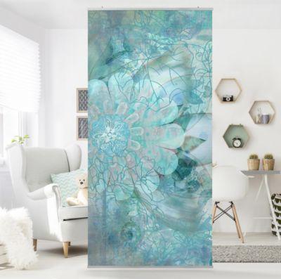 Raumteiler   Vorhang - Winterblumen 250x120cm