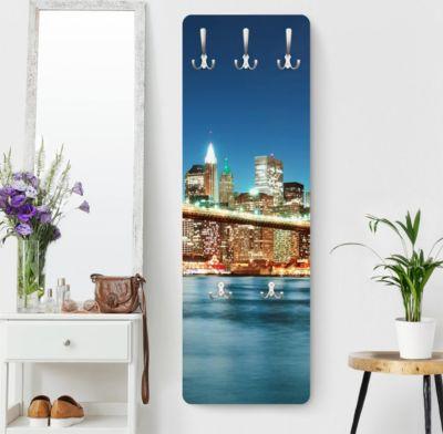 Wandgarderobe New York - Nighttime Manhattan Bridge - Garderobe B bei Plus Online Shop