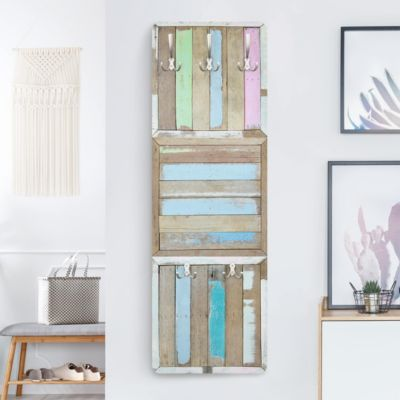 Garderobe Vintage - Rustic Timber - Wandgarderobe Blau bei Plus Online Shop