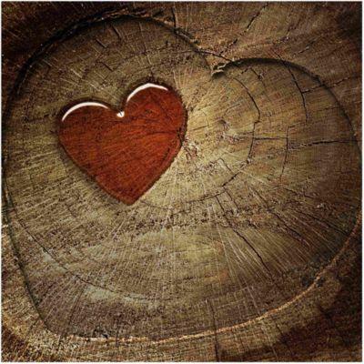 Vliestapete - Natural Love - Fototapete Quadrat