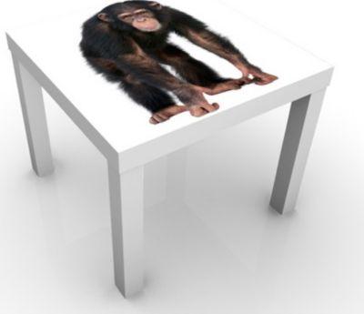 Kindertisch Aufmerksamer Affe - Tisch Braun Weiß | Kinderzimmer > Kindertische > Spieltische | PPS. Imaging