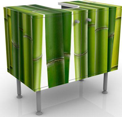 Waschbeckenunterschrank - Bambuspflanzen - Bads...