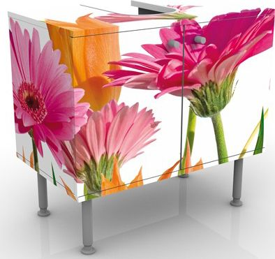 Waschbeckenunterschrank - Flower Melody - Blume...