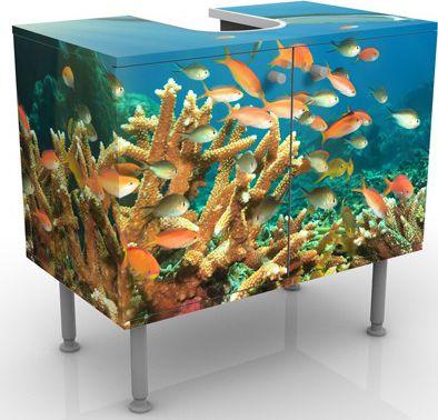 Waschbeckenunterschrank - Korallenriff - Badsch...