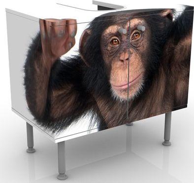 Waschbeckenunterschrank - Vergnügter Affe - Bad...