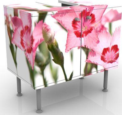 Waschbeckenunterschrank - Pink Flowers - Blumen...