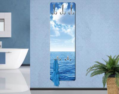 Wandgarderobe - Shining Ocean - Garderobe Maritim - Garderobenhaken Edelstahl