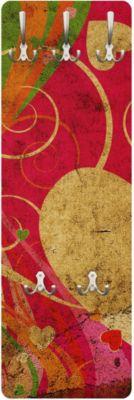 Wandgarderobe Abstrakt - Lava Love - Garderobe Rot