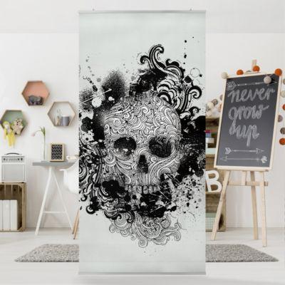 Raumteiler   Vorhang - Skull 250x120cm