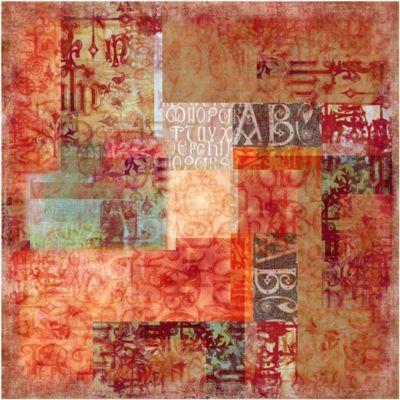 Vliestapete - Schriftmuster - Fototapete Quadrat
