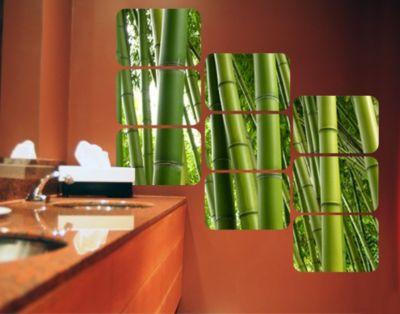 Selbstklebendes Wandbild Bamboo Trees Quadrate