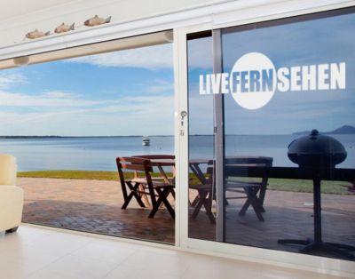Fensterfolie - Fenstertattoo No.UL527 LiveFernSehen - Milchglasfolie