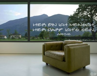 Fensterfolie - Fenstertattoo No.SF930 Goethe Mensch - Milchglasfolie