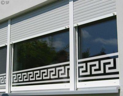Fensterfolie - Fenstertattoo Bordüre No.SF955 Mäander - Milchglasfolie