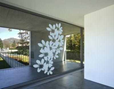 Fensterfolie - Fenstertattoo No.UL11 Blüten - Milchglasfolie