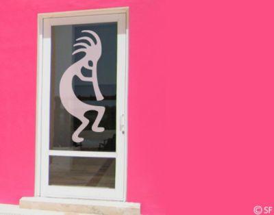 Fensterfolie - Fenstertattoo No.SF987 Kokopelli - Milchglasfolie