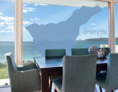 Fensterfolie - Fenstertattoo No.TM75 Teneriffa - Milchglasfolie