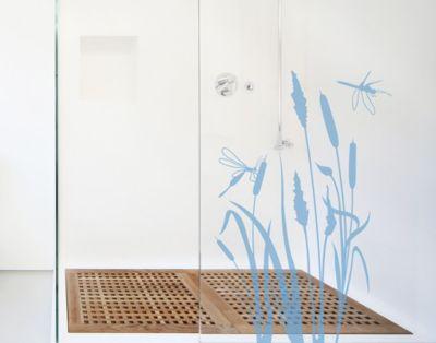 Fensterfolie - Fenstertattoo No.MW100 Schilfidylle - Milchglasfolie