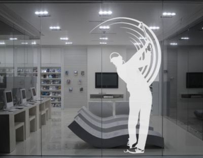 Fensterfolie - Fenstertattoo No.UL743 Golfer - Milchglasfolie