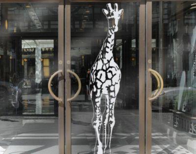 Fensterfolie - Fenstertattoo No.TA1 Giraffe - Milchglasfolie