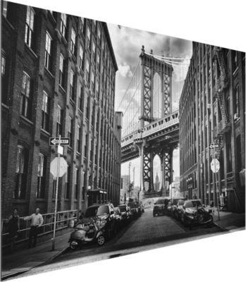 Alu Dibond Bild - Manhattan Bridge in America - Quer... 40cm x 60cm