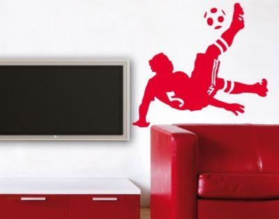 Wandtattoo Fußball - Kinderzimmer No.UL482 Fußball Fallrückzieher | Dekoration > Wandtattoos > Wandtattoos | PPS. Imaging