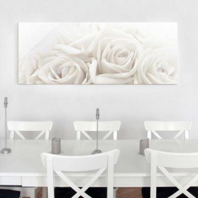 glasbild-wedding-roses-panorama-quer-blumenbild-glas