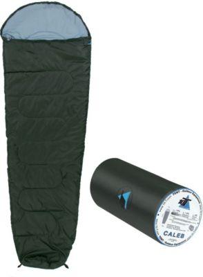 10 T Outdoor Equipment 10T Caleb - Mumien-Schlafsack bis -8°C mit Kapuze, 220x75 cm, 860g leicht, 2-3 Jahreszeiten, Camping & Trekking