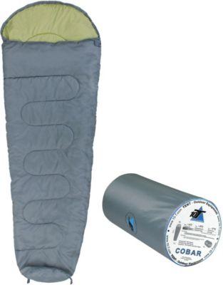 10 T Outdoor Equipment 10T Cobar - Mumien-Schlafsack bis -11°C mit Kapuze, 225x80 cm, 1200g leicht, 2-3 Jahreszeiten, Camping & Trekking