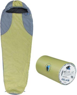 10 T Outdoor Equipment 10T Gelar - Mumien-Schlafsack bis -5°C mit Kapuze, 210x75 cm, 1000g leicht, 2-3 Jahreszeiten, Camping & Trekking