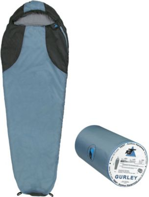 10 T Outdoor Equipment 10T Gurley - Mumien-Schlafsack bis -10°C mit Kapuze, 225x80 cm, 1200g leicht, 2-3 Jahreszeiten, Camping & Trekking